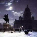 82200460_large_Vid_pamyatnika_Petru_I_na_Senatskoy_ploschadi_v_Peterburge_1870